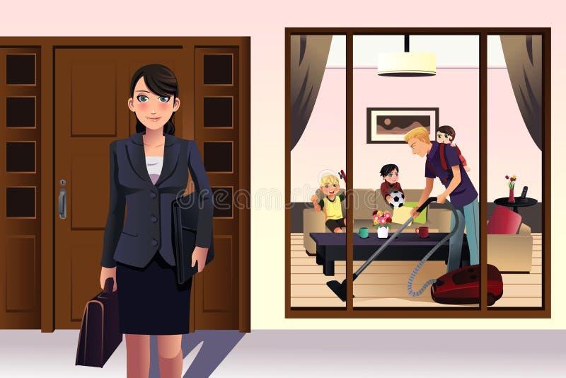 współczesna rodzina ilustracja wektor