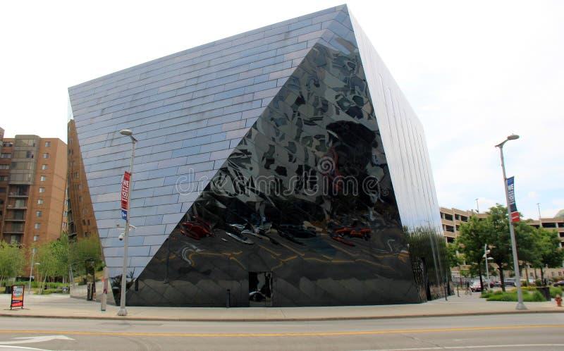 Współczesna wizerunek architektura w MOCA, Cleveland, Ohio, 2016 obrazy stock