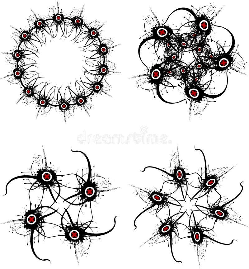 współczesne kształty ilustracja wektor