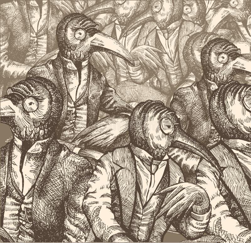 współczesny dialog ilustracja wektor