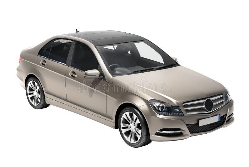 Współczesny luksusowy samochód odizolowywający fotografia royalty free