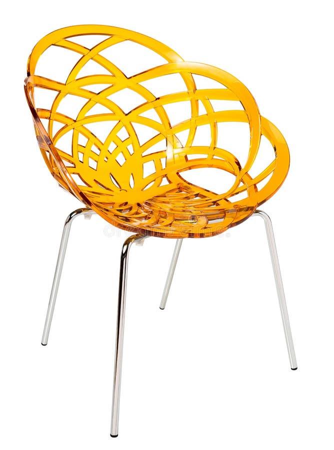 Współczesny plastikowy krzesło zdjęcie royalty free