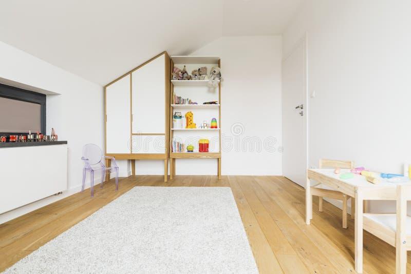 Współczesnych dzieciaków izbowy wystrój perfect w każdy szczególe obrazy royalty free