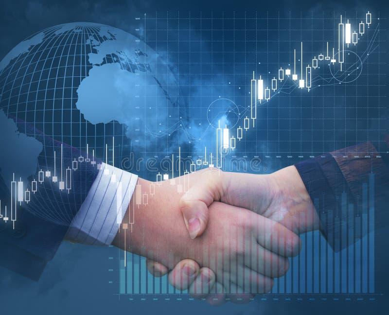 Współpraca i zgody w biznesie royalty ilustracja