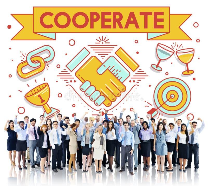 Współpracuje Wpólnie Drużynowego pracy zespołowej partnerstwa pojęcie obraz stock