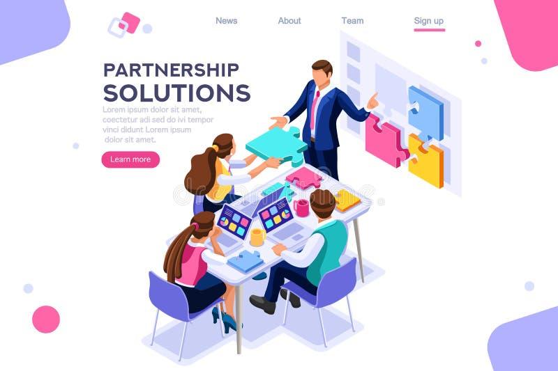 Współpracy partnerstwa Komunikacyjny rozwiązanie Wpólnie ilustracja wektor