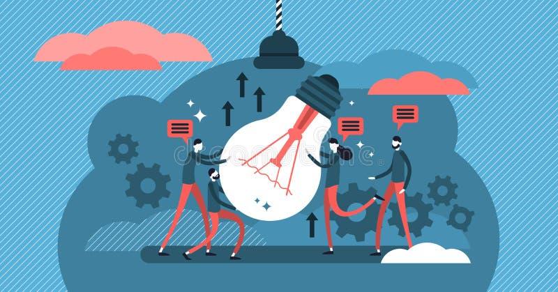 Współpracy wektoru ilustracja Proces ludzie pracuje wpólnie ilustracja wektor
