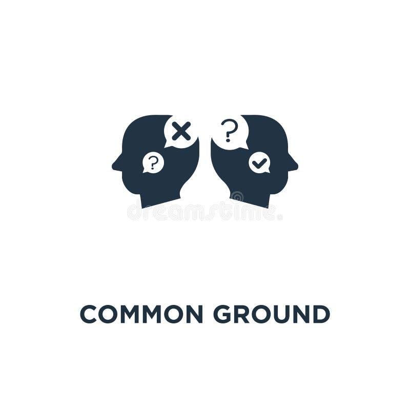 wspólnej płaszczyzny ikona wspólne zrozumienia, przewodnictwo, usługi doradcze, gadki larwy pojęcia symbolu projekt, negocjacja k ilustracji