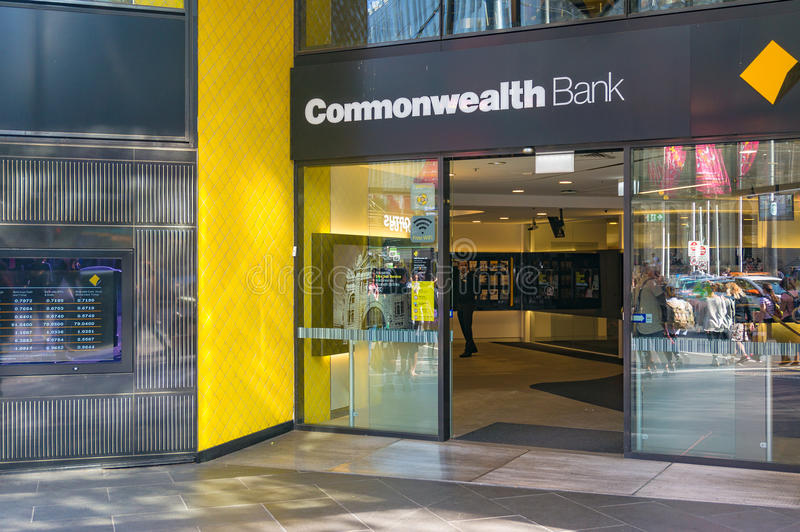 Wspólnota Narodów banka gałąź wejście obrazy royalty free