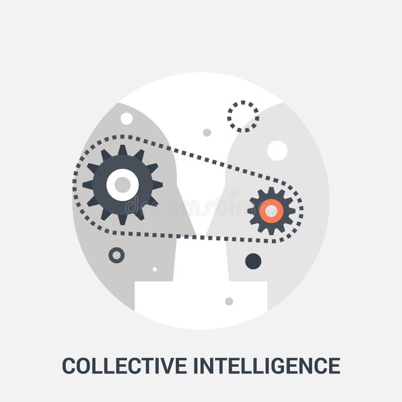 Wspólny inteligenci ikony pojęcie ilustracji