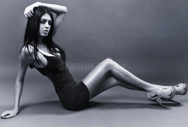 Wspaniała łacińska dama fotografia stock