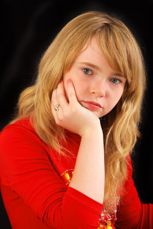 wspaniała blondynki dziewczyna zdjęcie stock