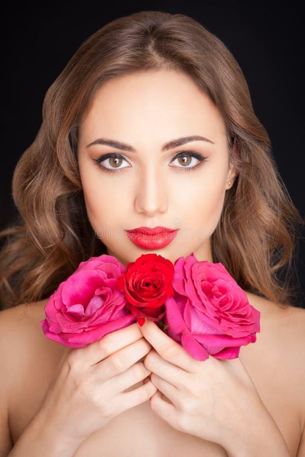 Wspaniała brunetka w makeup fotografia royalty free