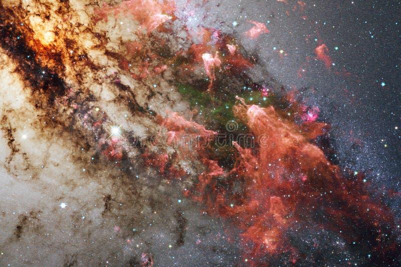 Wspaniała kolorowa mgławica gdzieś w niekończący się wszechświacie Elementy ten wizerunek meblujący NASA zdjęcia royalty free