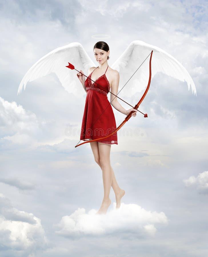 Amorek w chmurach zdjęcia stock