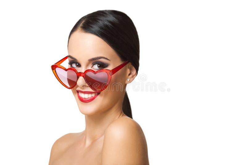 Wspaniała makeup brunetka obraz royalty free
