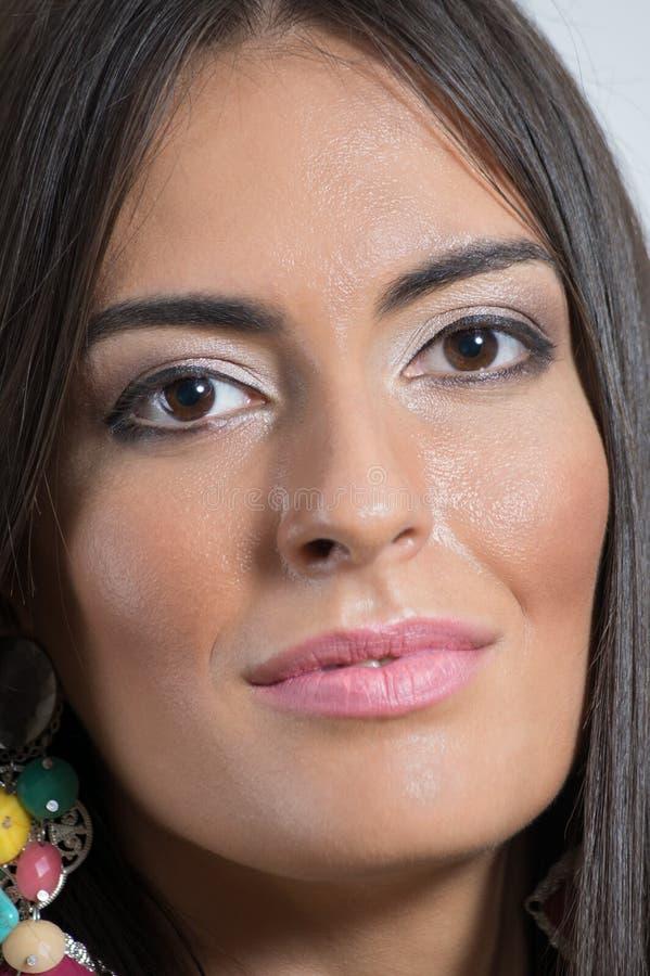 Wspaniała piękno modela kobiety twarz fotografia stock