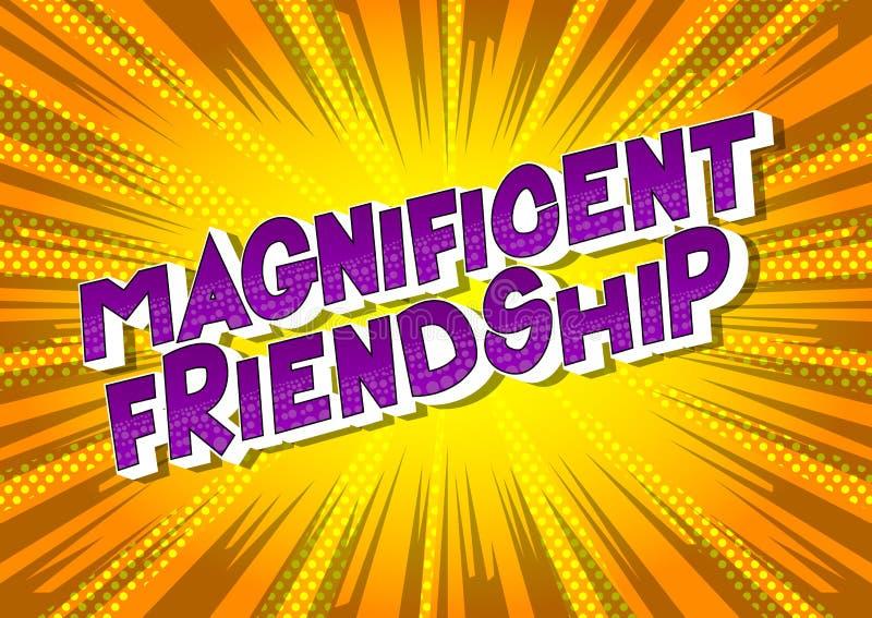 Wspaniała przyjaźń - komiksu stylu zwrot royalty ilustracja