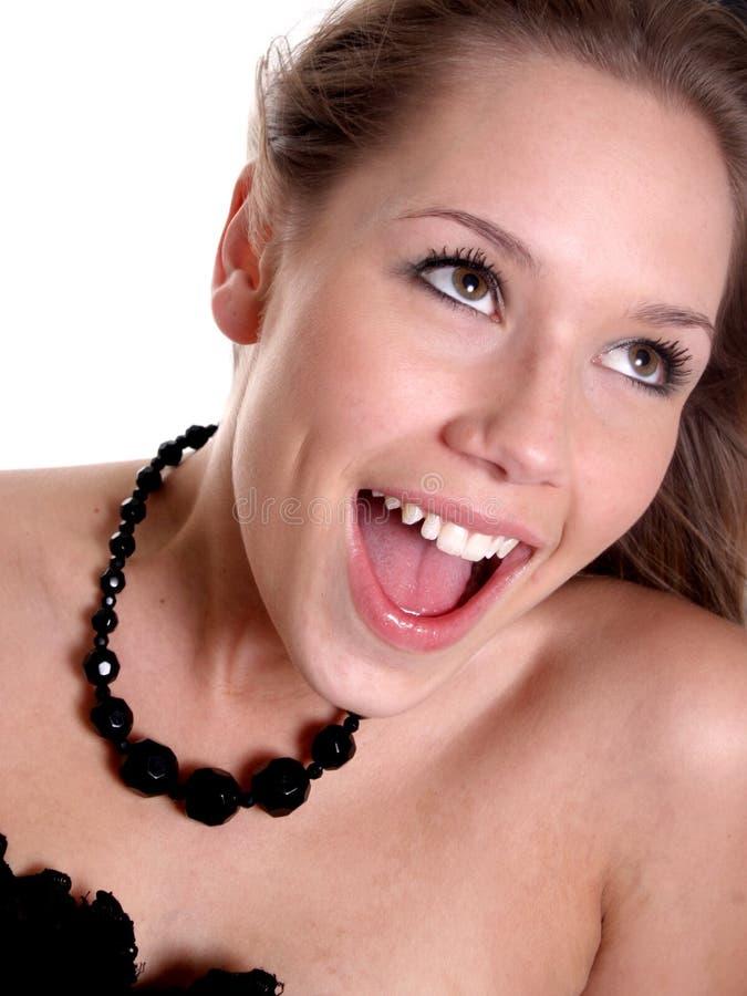 wspaniała szczęśliwa kobieta zdjęcia stock