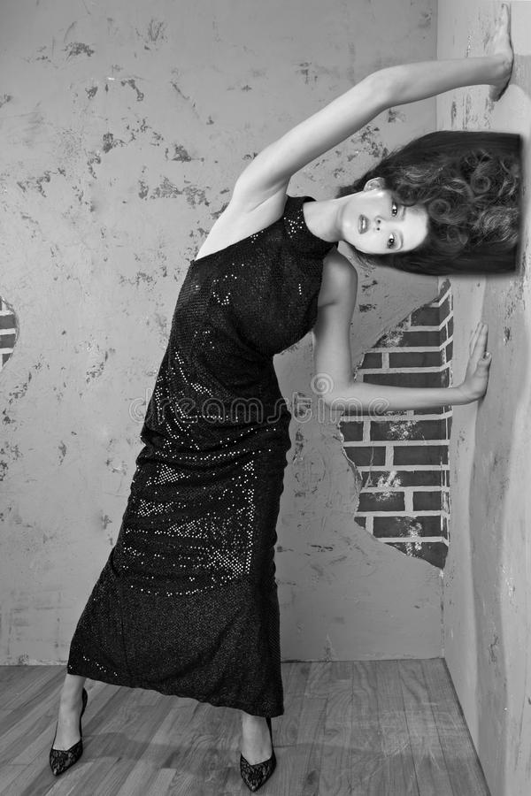 Wspaniała Wysoka Moda Projektująca Kobieta obrazy royalty free