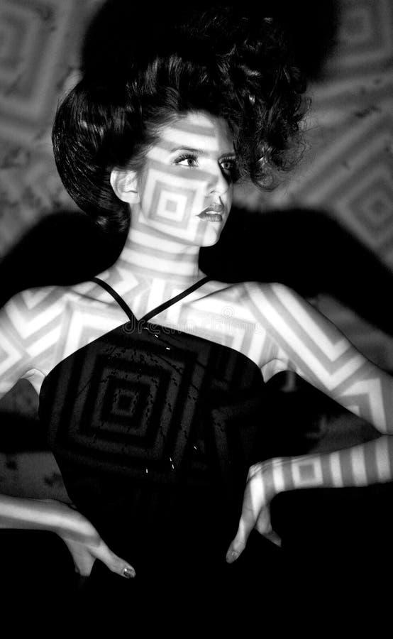 Wspaniała Wysoka Moda Projektująca Kobieta obraz royalty free