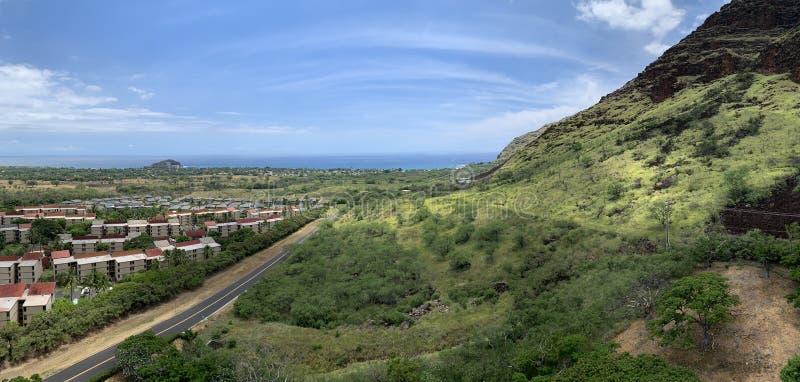 Wspaniałe panoramiczne Hawaje fotografia stock