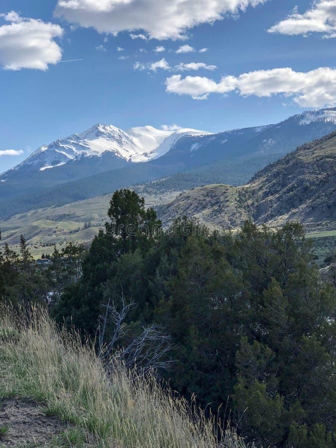 Wspaniały śnieżny góry i niebieskiego nieba widok w Południowym Dakota zdjęcie royalty free