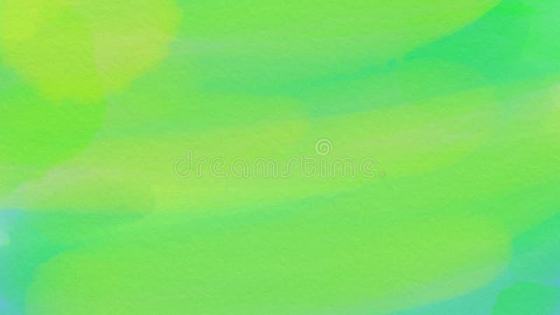Wspaniały abstrakcjonistyczny akwareli zieleni tło dla webdesign, kolorowy tło, zamazujący, tapeta zdjęcia stock