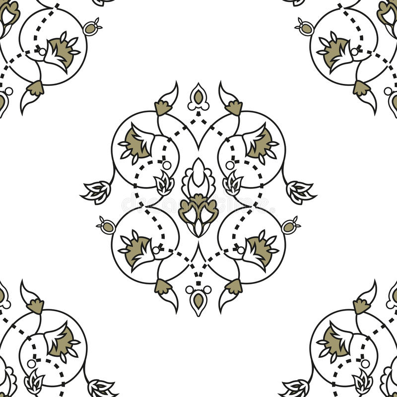Wspaniały bezszwowy wzór od marokańczyk płytek, ornamenty ilustracji
