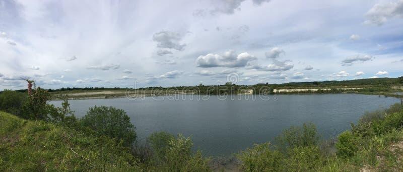 Wspaniały i zadziwiający widok jezioro fotografia royalty free