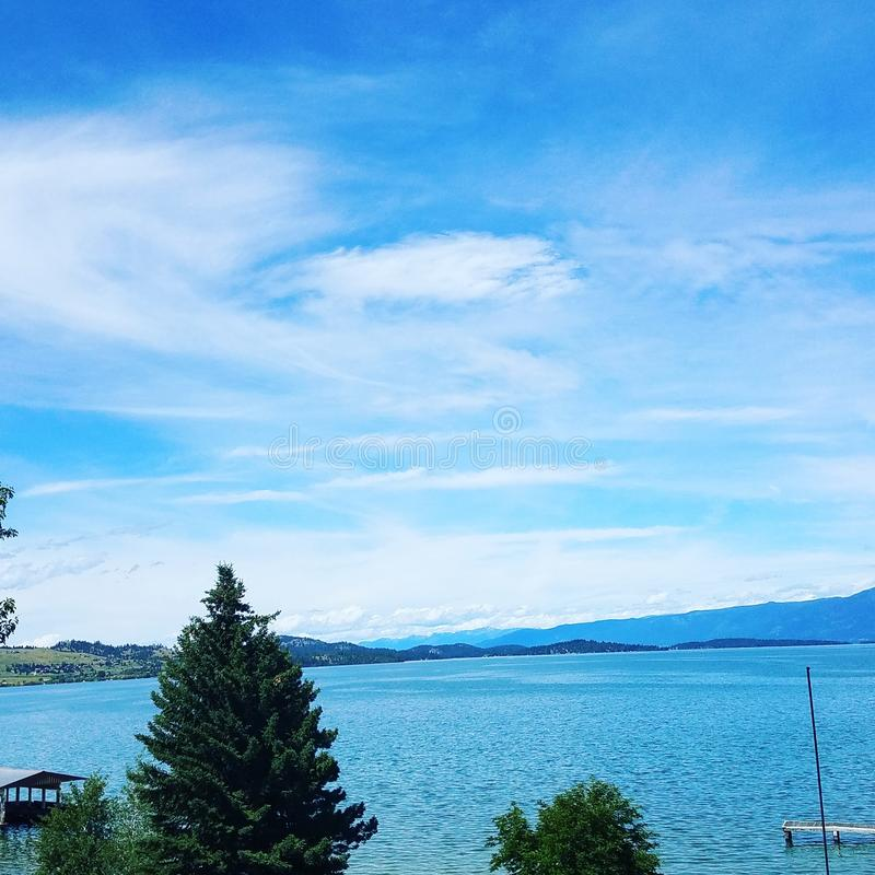 wspaniały jezioro zdjęcie royalty free