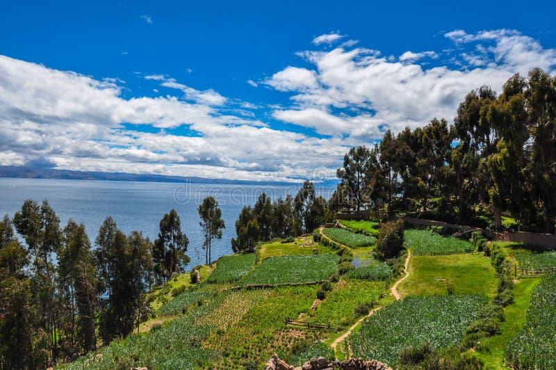 Wspaniały krajobraz Isla Del Zol, Boliwia fotografia royalty free