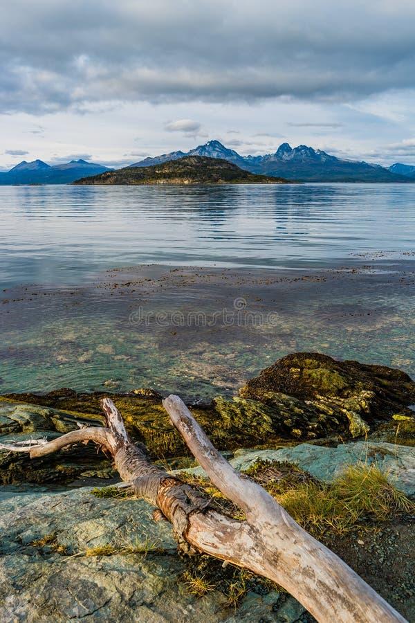 Wspaniały krajobraz Patagonia ` s Tierra Del Fuego park narodowy obraz stock
