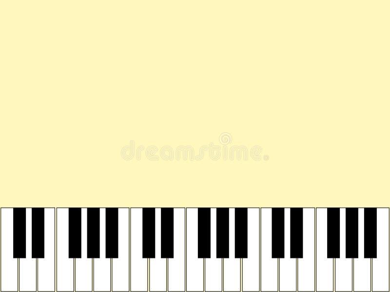 Wspaniały lekki tło z elementami pianino ilustracji