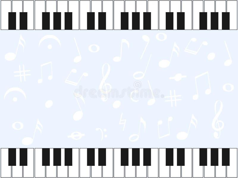 Wspaniały lekki tło z elementami pianino ilustracja wektor