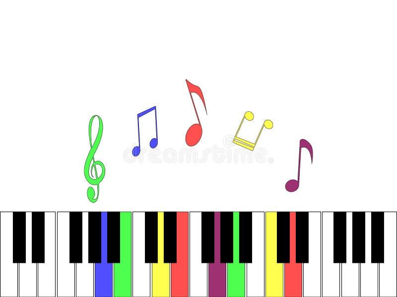 Wspaniały lekki tło z elementami pianino royalty ilustracja