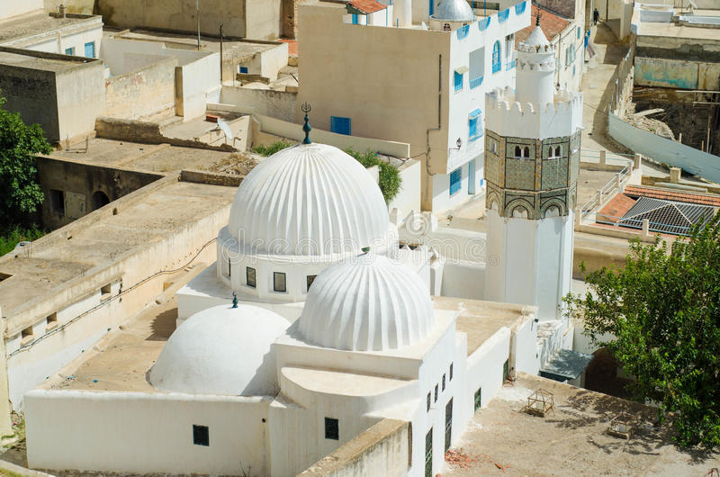 Wspaniały meczet w śródmieściu El Kef zdjęcie stock