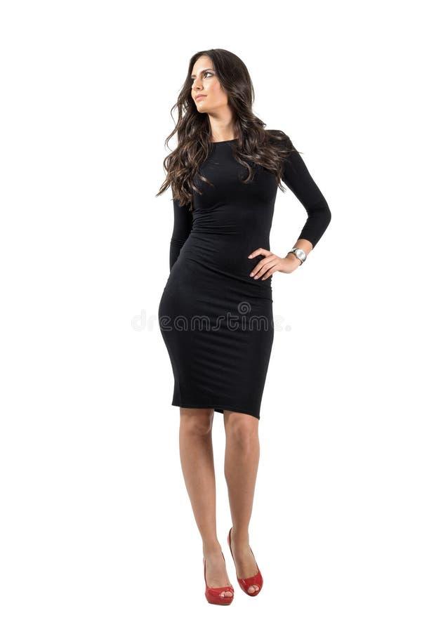 Wspaniały mody mody modela piękno pozuje przyglądający up fotografia stock