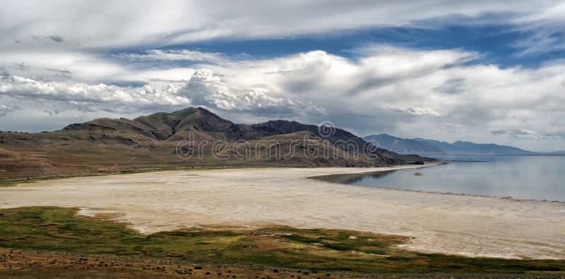 Wspaniały moutain i jeziora widok w antylopy wyspie obrazy stock