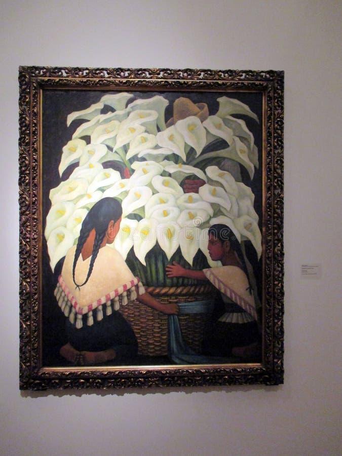 Wspaniały obraz calas lub gannets Diego Rivera eksponował w Malba, Buenos Aires Argentyna - obraz stock