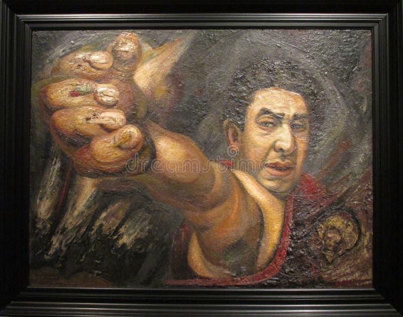 Wspaniały obraz Diego Rivera eksponował w Malba - Nowożytna Meksyk Powystawowa awangarda, rewolucja i obrazy stock
