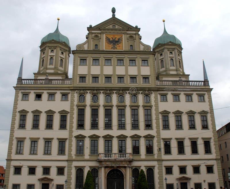 Wspaniały Rathaus w mieście Augsburski w Bavaria (Niemcy) obraz royalty free