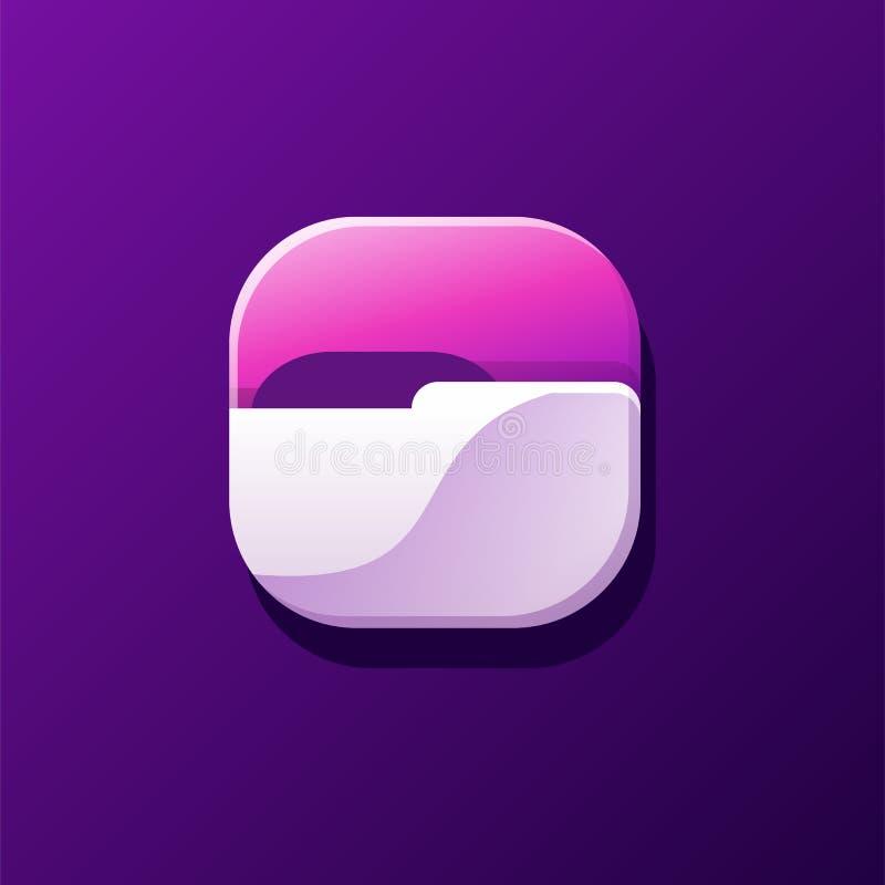 Wspaniały skoroszytowy ikona projekt gotowy używać ilustracja wektor