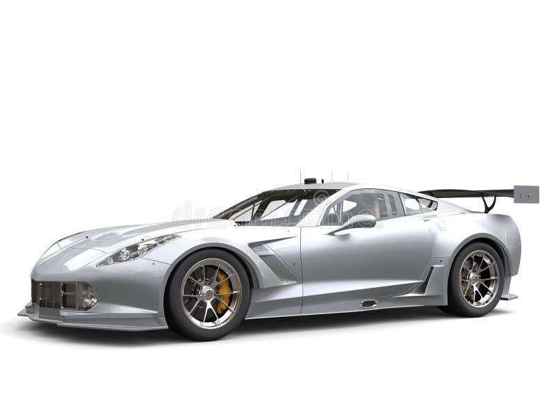Wspaniały srebny wytrzymałość samochód wyścigowy ilustracji