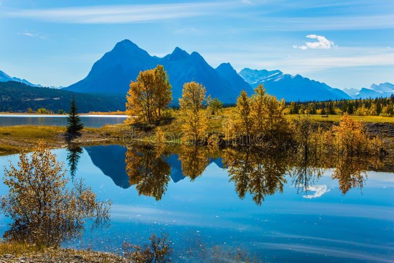 Wspaniały sztuczny jezioro Abraham obraz royalty free