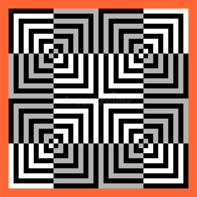 Wspaniały tło dla kwadrat kształtuję grupowy Składać się z harmoniously gniazdujący kwadraty, piękni kolory i atrakcyjni kolory, royalty ilustracja