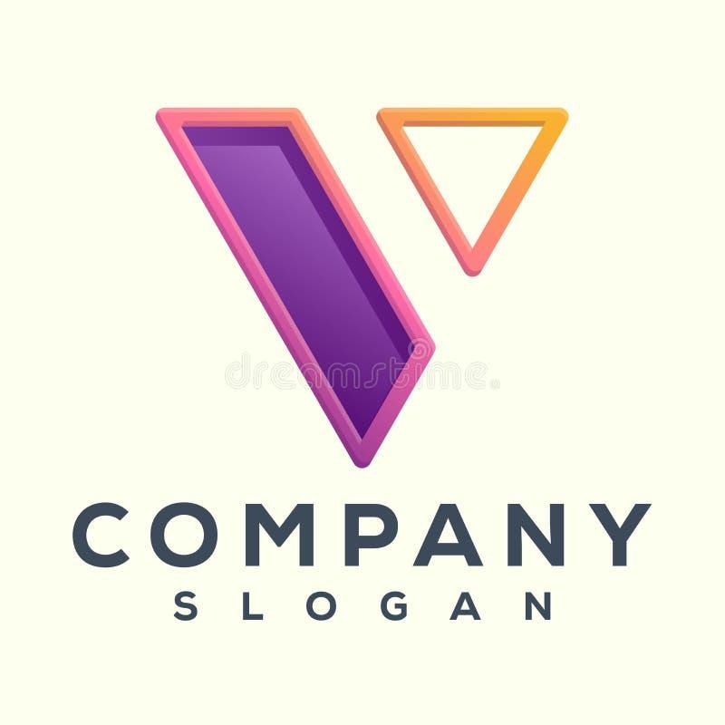 Wspaniały v logo listowy projekt gotowy ilustracji