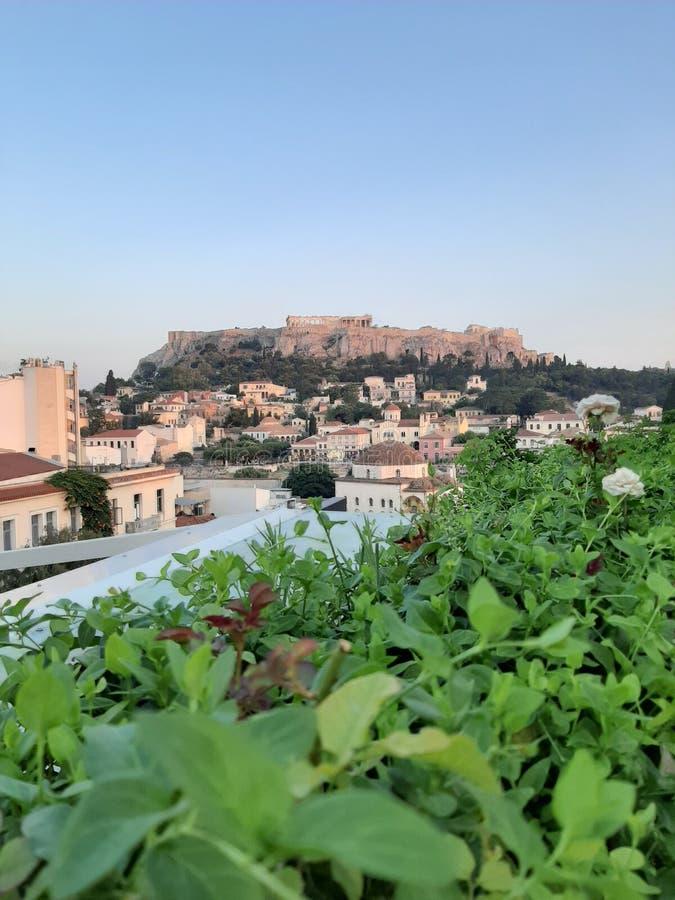 Wspaniały widok od Greece zdjęcia royalty free