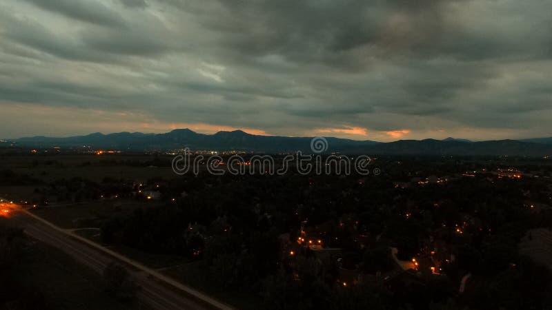 Wspaniały widok od trutnia w głazie Kolorado fotografia stock