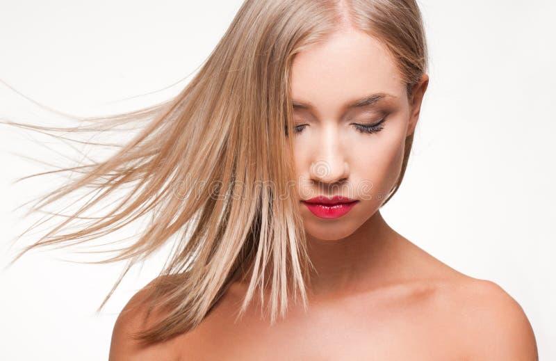 Wspaniali blondyny w makeup fotografia stock